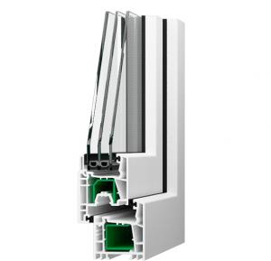 SALAMANDER 2DДоступная цена (низкий ценовой сегмент).Стальное армирование внутренних камер увеличивает несущие способности конструкции.Ширина фальца позволяет устанавливать различное стекло: энергосберегающее, противопожарное, звукоизолирующее, с повышенной степенью защиты.Высокая герметичность благодаря двойному уплотнению.Элегантный внешний вид пластиковых окон трехкамерных за счет скругления наружного контура профиля.Беспрепятственное поступление естественного дневного света через двухкамерные стеклопакеты.