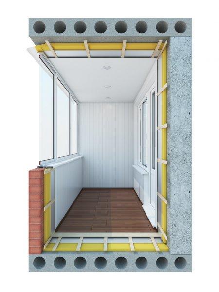 Ремонт балкона-балкон под ключ